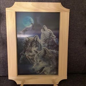 Holographic Wolf Wall Rack